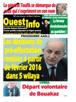 Lundi 28 Décembre 2015 - Ouest-Info