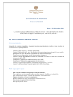(01) SOUSCRIPTEUR RETROCESSION Profil requis par