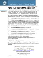 République de Madagascar: Programme de référence et