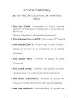 Nominations - Diocèse d` Abomey (Bénin)