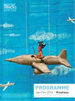Programme janvier-février 2016 - Institut Français de Kinshasa