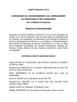 Commission de l`Environnement