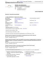 Egouttage exclusif de la ruelle des Croix Bulletin des Adjudications