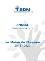 Les Maires de l`Aveyron - Association Départementale des Maires