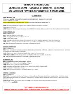 Programme et consignes - Ecole-Collège Saint
