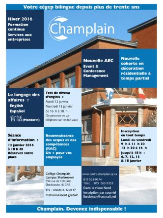 Dépliant - Collège Champlain