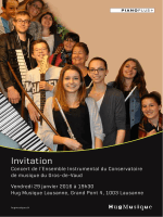 Invitation  - Conservatoire du Gros-de-Vaud