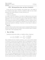 TP3 : Décomposition dans une base d`ondelette 1 Base de Haar
