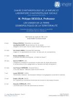 M. Philippe DESCOLA, Professeur