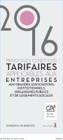 TARIFAIRES - Crédit Agricole d`Ile de France