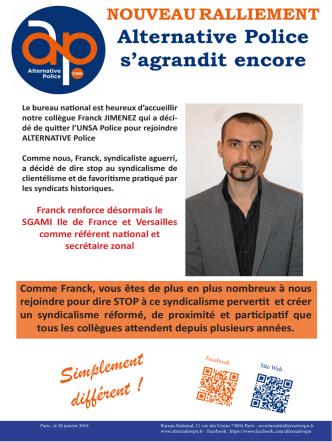 28 01 2016 franck jimenez - Alternative Police CFDT