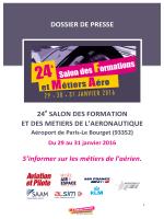 Dossier de presse Salon des Formations et Métiers Aéro 2016