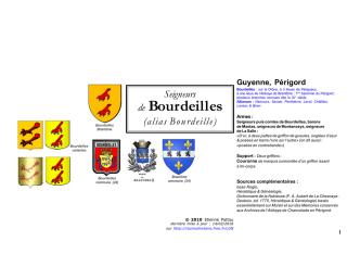 de Bourdeilles - Racines & Histoire