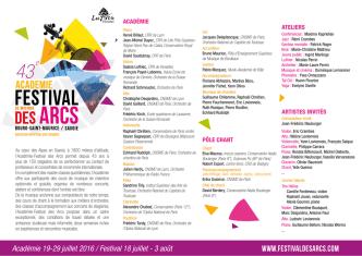 Académie 19-29 juillet 2016 / Festival 18 juillet