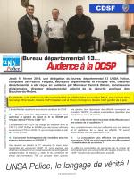 Audience à la DDSP - Unsa