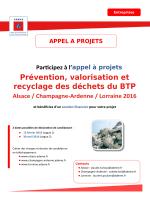Prévention, valorisation et recyclage des déchets du BTP