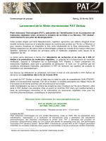 CP - Lancement de la filiale réunionnaise PAT Zerbaz