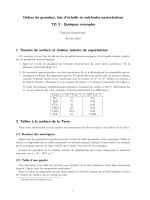Ordres de grandeur, lois d`échelle et méthodes perturbatives TD 3