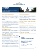 master 1 - Université Paris 1 Panthéon