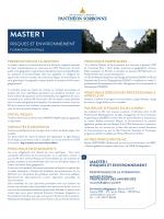 master 1 - Université Paris 1 Panthéon