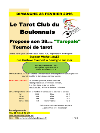 boulogne sur mer 28/02 - Tarot Club du Boulonnais