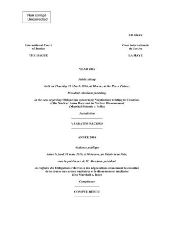 cr 2016/4 - miind - Cour internationale de Justice