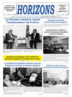 Le Premier ministre reçoit l`ambassadeur de France