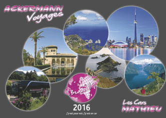 Catalogue 2016 - Ackermann Voyages
