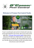 O'Connor Pest Control Company in Visalia, CA