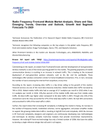 Radio Frequency Front-end Module Market Share and Size, Trends and Forecast To 2020