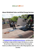 WindSoleil Solar Installers and Wind Energy Services in Chicago, IL