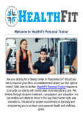 HealthFit Personal Trainer & Fitness Center in Pasadena, CA