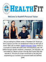 HealthFit Personal Trainer & Fitness Center in Pasadena, CA