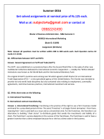 MK0018-International Marketing