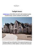 Home Builders in Albuquerque : Twilight Homes