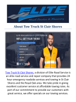 Tow Truck St Clair Shores Towing St Clair Shores, MI