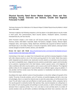 Physical Security Market Analysis, Growth, Trends and Forecast 2016