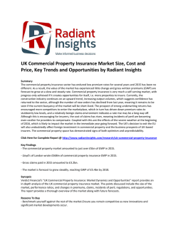 UK Commercial Property Insurance Market Size, Cost and Price, Opportunities by Radiant Insights
