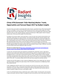 Chinas ATM (Automatic Teller Machine) Market Trends, Opportunities and Forecast 2017 by Radiant Insights