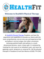 HealthFit Physical Therapy Physical Therapist in Pasadena, CA