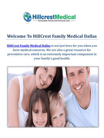 Dallas Urgent Care Clinic : HillCrest Family Medical Dallas