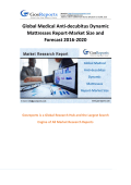 Global Medical Anti-decubitus Dynamic Mattresses Report-Market Size and Forecast 2016-2020