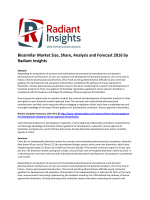 Biosimilar Market Size, Share, Analysis and Forecast 2016 by Radiant Insights