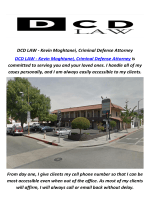 DCD LAW - Kevin Moghtanei, Criminal Defense Attorney in San Fernando, CA