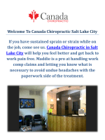 Canada Chiropractic Therapy SLC | The best Chiropractors in Salt Lake City