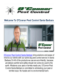 O'Connor Pest Exterminator in Santa Barbara, CA