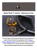 Peter F. Iocona - Attorney at Law : DUI Attorney in Orange County, CA