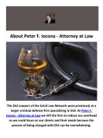 Peter F. Iocona - Attorney at Law : DUI Attorney in Orange County, CA