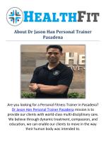 Dr Jason Han Personal fitness Trainer in Pasadena, CA