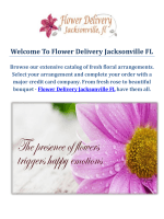 Flower Delivery Service in Jacksonville FL